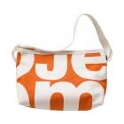 podlouhlá oranžová taška bílá