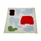 velké améby dětská deka šedivá