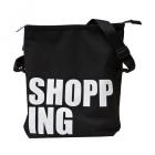 velká černá typo taška shopping