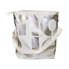 velká bílá taška stříbrná