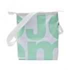 čtvercová bílá taška zelená
