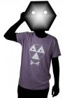 toxique men's purple t-shirt silver print