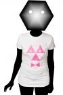toxique women's white t-shirt pink print